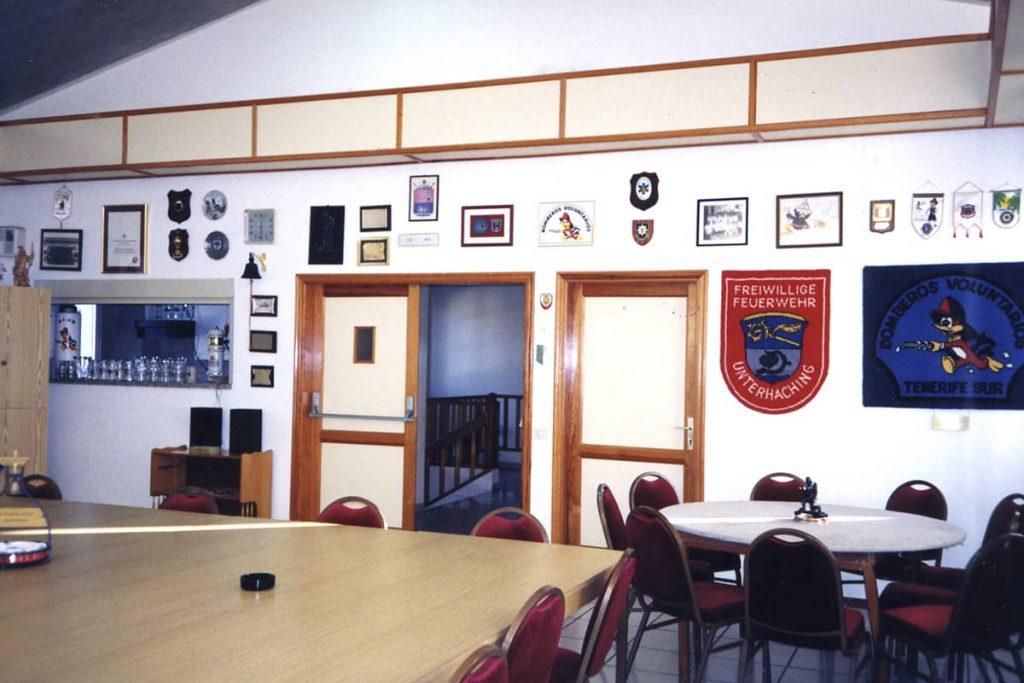 Salón multifuncional parte antigua del parque de bomberos de Fañabé