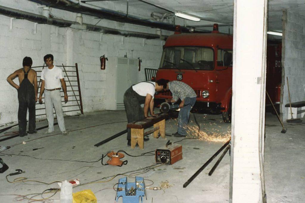 Mejoras en el parque de bomberos en el garaje del Hotel Club Atlantis