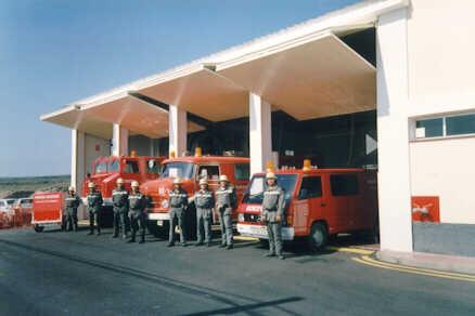 Cochera parte antigua parque de bomberos de Fañabé